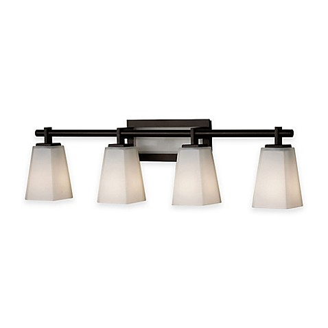 Buy Feiss Clayton 4 Light Bath Vanity Fixture In Oil Rubbed Bronze From Bed