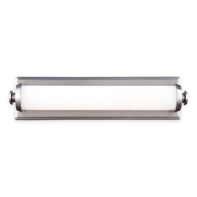 Feiss® Edgebrook 18-Inch LED 1-Light Wall Sconce in Satin Nickel