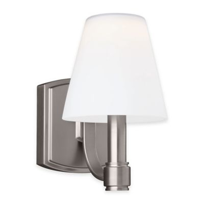 Feiss® Leddington 1-Light Wall Sconce in Satin Nickel