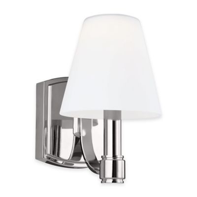 Feiss® Leddington 1-Light Wall Sconce in Polished Nickel