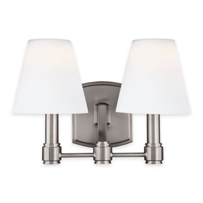 Feiss® Leddington 2-Light Vanity Fixture in Satin Nickel
