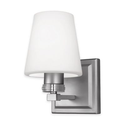 Feiss® Rouen 1-Light Wall Sconce in Satin Nickel