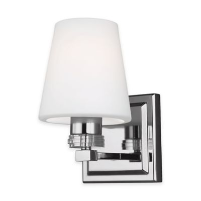 Feiss® Rouen 1-Light Bath Wall Sconce in Polished Nickel