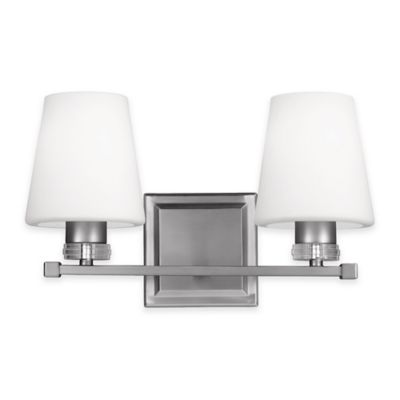 Feiss® Rouen 2-Light Bath Vanity Fixture in Satin Nickel