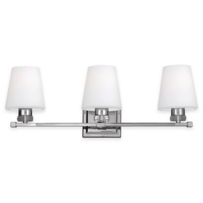 Feiss® Rouen 3-Light Bath Vanity Fixture in Polished Nickel