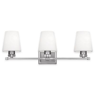 Feiss® Rouen 3-Light Bath Vanity Fixture in Satin Nickel
