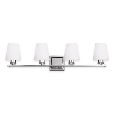 Feiss® Rouen 4-Light Bath Vanity Fixture in Polished Nickel