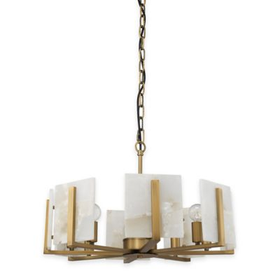 Jamie Young Halo 8-Light Chandelier in Alabaster