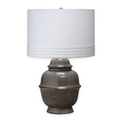 Jamie Young Kaya Table Lamp in Dark Grey