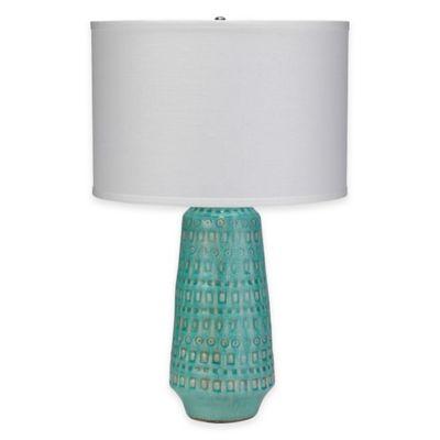 Jamie Young Coco Ceramic Table Lamp in Ocean