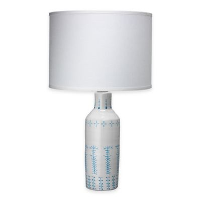 Jamie Young Louba Table Lamp in White/Blue
