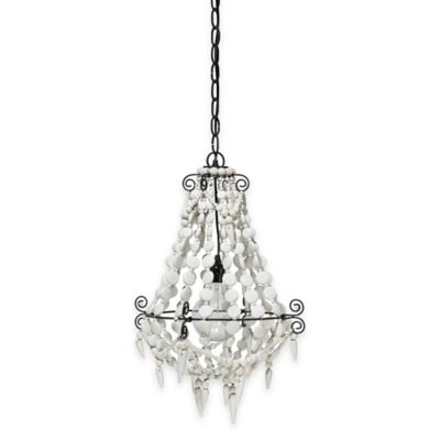Jamie Young Akumal 1-Light Chandelier in White