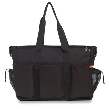 SKIP*HOP® Double Duo Diaper Bag in Black