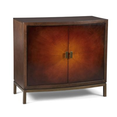 Pulaski 2-Door Harmony Accent Chest in Brown/Red