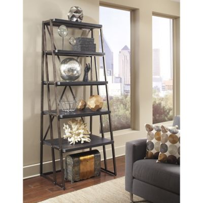 Pulaski Vintage Tempo Etagere in Charcoal