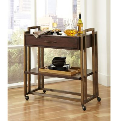 Pulaski Modern Harmony Serving Cart in Brown
