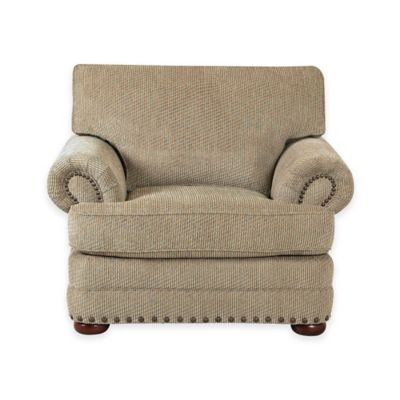 Klaussner Cliffside Upholstered Chair in Brown