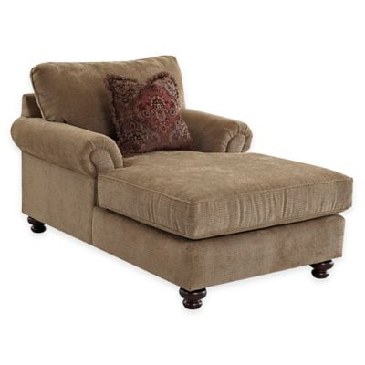 Klaussner Greenvale Upholstered Chaise in Brown