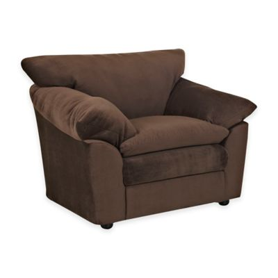 Klaussner Heights Upholstered Chair in Chocolate