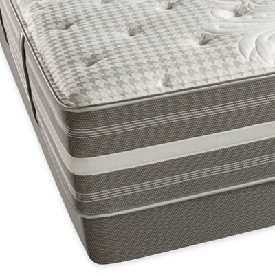 Beautyrest® World Class® Evans Oaks Plush Low Profile Split Queen Mattress Set