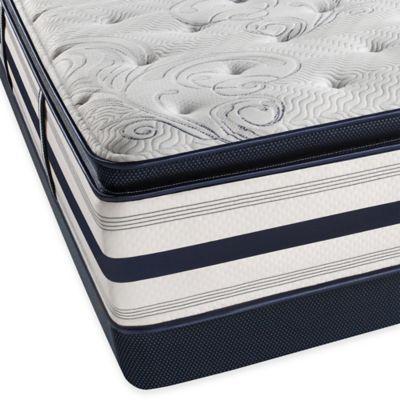 Beautyrest® Ultra Carramore Plush Pillow Top Low Profile Queen Mattress Set