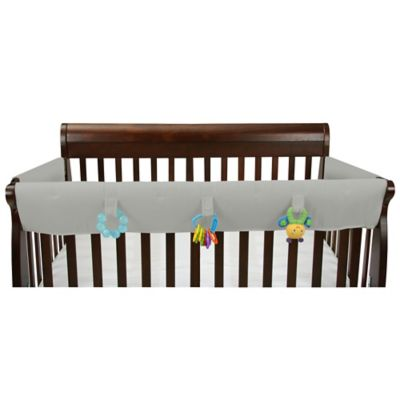 Leachco® Easy Teether™ Convertible Crib Rail Cover with Toy Tabs in Grey