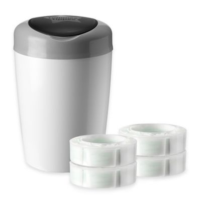 Tommee Tippee® Simplee Diaper Pail in Grey with 4-Count Refill Cartridge