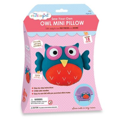My Studio Girl™ Sew-Your-Own Owl Mini Pillow