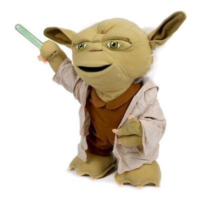 16-Inch Lightsaber Battle Yoda Plush