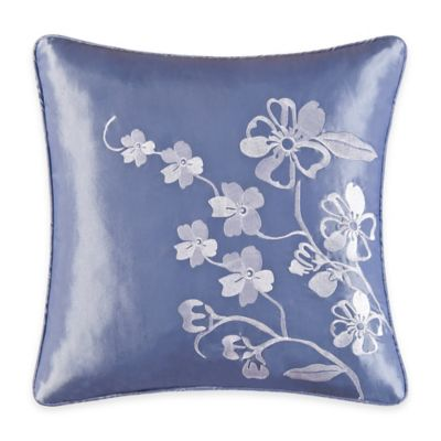 Zarina Embroidered Square Throw Pillow
