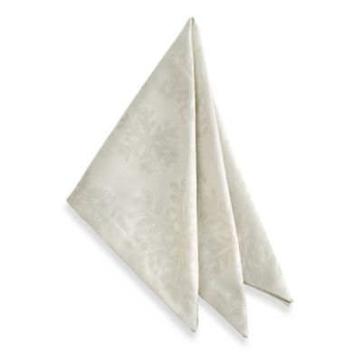 Waterford® Linens Snowflake Napkin in Gold