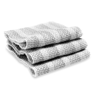 Full Circle Tidy Dish Cloths in Grey (Set of 3)