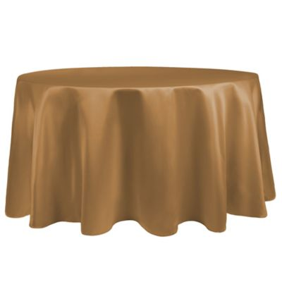 Duchess 108-Inch Round Tablecloth in Antique Gold