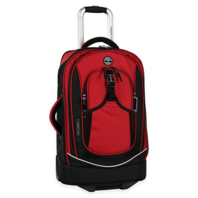 Timberland® Claremont 21-Inch Rolling Carry On in Red/Black