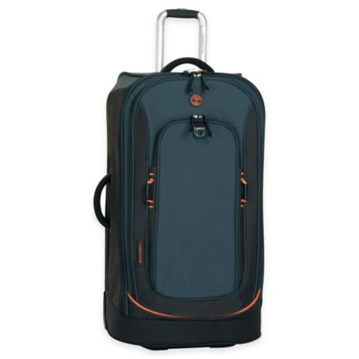 Timberland® Claremont 30-Inch Rolling Suitcase in Navy/Black/Orange