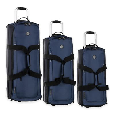 Timberland® Claremont 3-Piece Wheeled Duffle Set in Blue/Navy/Black