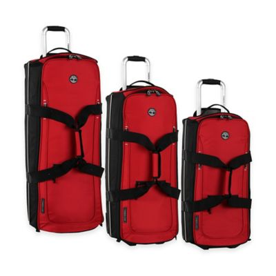 Timberland® Claremont 3-Piece Wheeled Duffle Set in Red/Black
