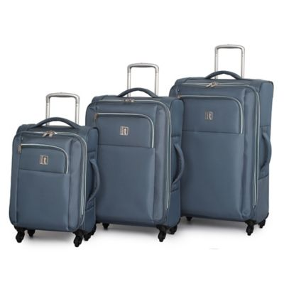 it Luggage MegaLite™ X-Weave 3-Piece 4-Wheel Expandable Spinner Set in Grey