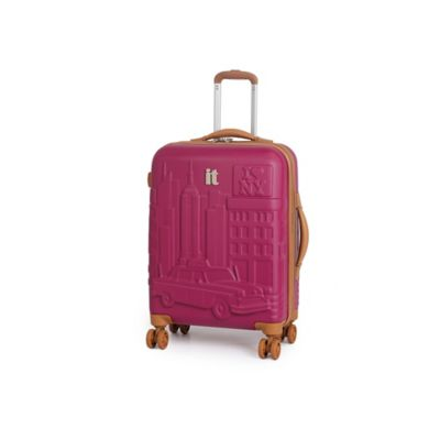 it Luggage New York 21.5-Inch 8-Wheel Expandable Carry On Duralition™ Spinner in Persian Red