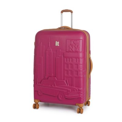 it Luggage New York 29.5-Inch 8-Wheel Expandable Duralition™ Spinner in Persian Red