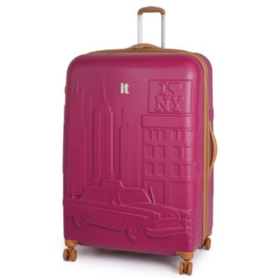 it Luggage New York 33-Inch 8-Wheel Expandable Duralition™ Spinner in Persian Red