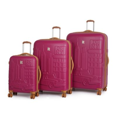 it Luggage New York 3-Piece 8-Wheel Expandable Duralition™ Spinner Set in Black