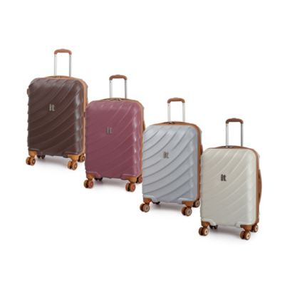 it Luggage Zeus 21-Inch 8-Wheel Duralition™ Carry On Spinner in Oyster Grey
