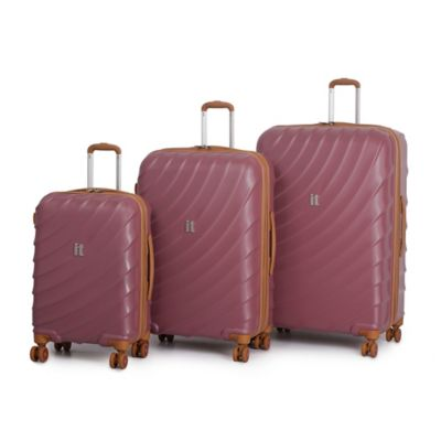 it Luggage Zeus 3-Piece 8-Wheel Expandable Duralition™ Spinner Set in Roan Rouge