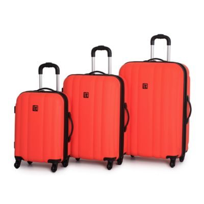it Luggage Mojave 3-Piece 4-Wheel Expandable Hardside Fungi Spinner Set in Flame
