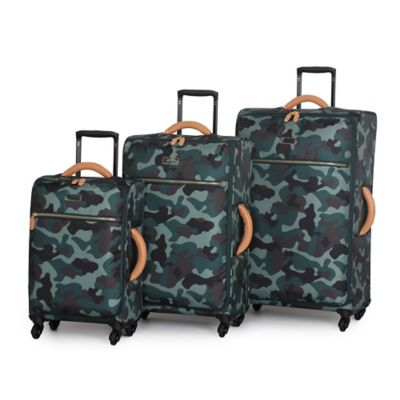 it Luggage Urban Jungle Lite 3-Piece 4-Wheel Lightweight Spinner Set in Grey Pink