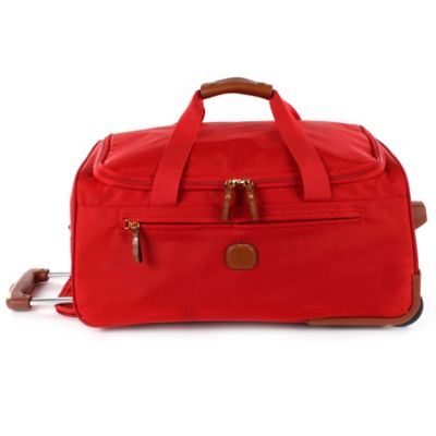 Bric's X-Travel X-Bag 21-Inch Carry On Rolling Duffle in Red
