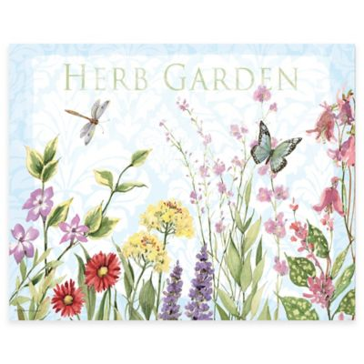 Herb Garden 12-Inch x 15-Inch Glass Cutting Board