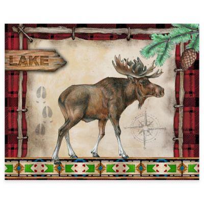 Cabin Moose 12-Inch x 15-Inch Glass Cutting Board