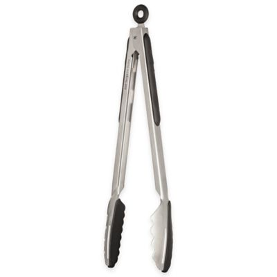 Ergo Chef Stainless Steel/Silicone Locking Tongs